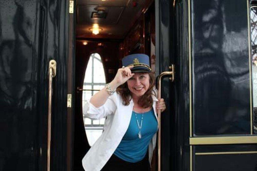 Bitsy Clayton on the Venice Simplon Orient Express. Photo: Courtesy