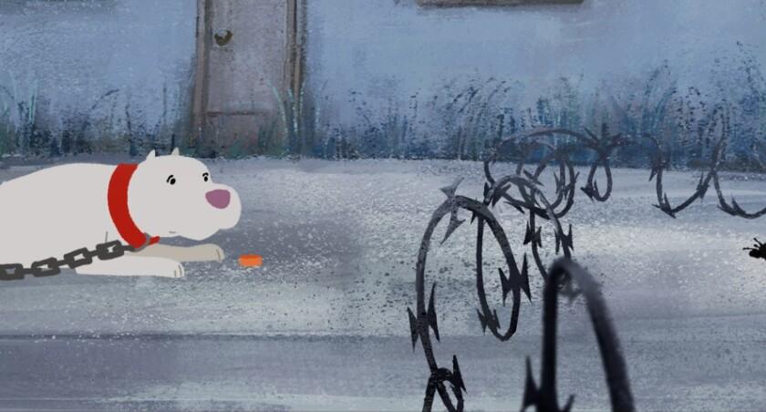 "A scene from the Oscar-nominated animated short ""Kitbull,"" directed by Rosana Sullivan."