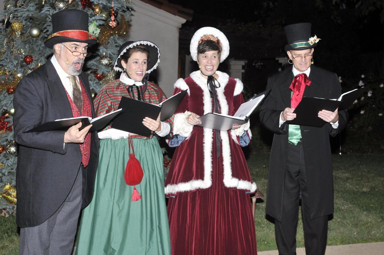 Carolers sang holiday songs