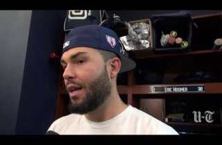 Padres 1B Eric Hosmer on reporting to camp and the possibility of Harper and Machado