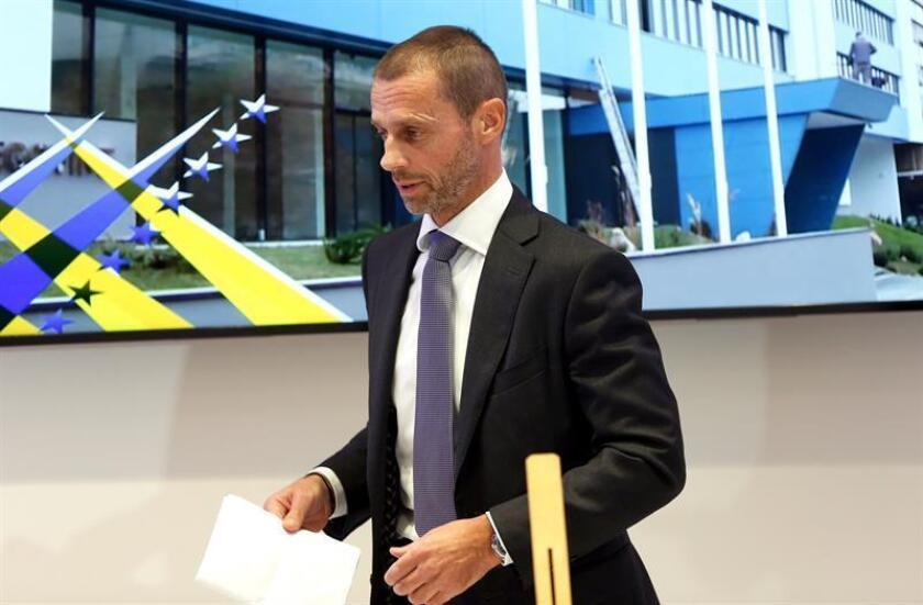El presidente de la UEFA, Aleksander Ceferin. EFE/Archivo