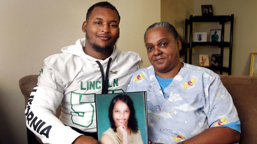 SAN DIEGO, November 29, 2018   Lincoln High School football player T'ray Kirkland and his great aunt