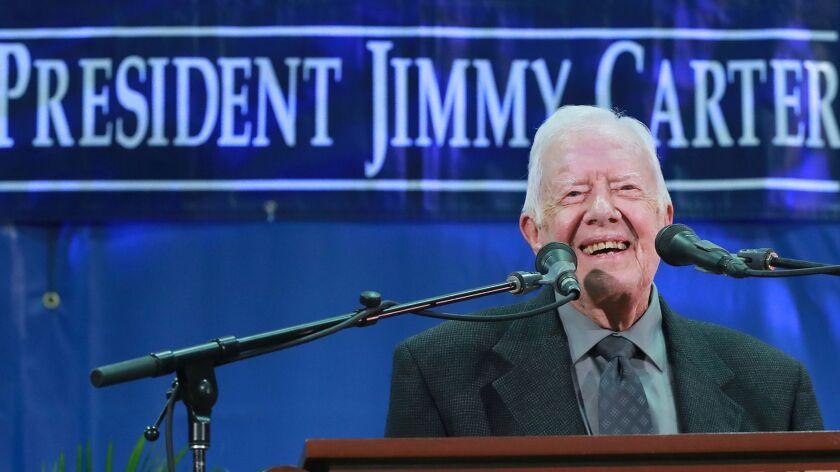 Jimmy Carter gets new title: oldest living former president