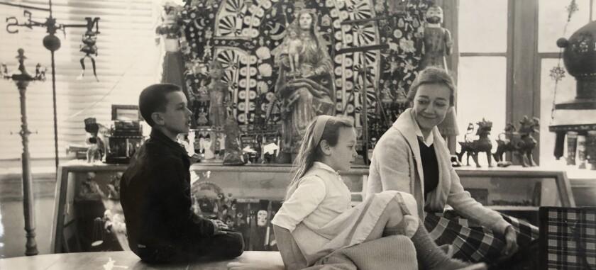 Jan Steward with her children, Sean and Tina Steward