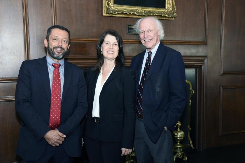Dr. Miguel del Campo, Judge Marian Gaston, Dr. Ken Lyon Jones