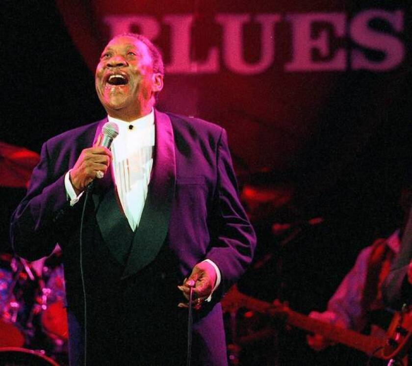"""Bobby """"Blue"""" Bland performs at the fourth annual Blues Foundation Lifetime Achievement Awards in 1998. Bland is considered one of the 20th century's most successful blues singers."""