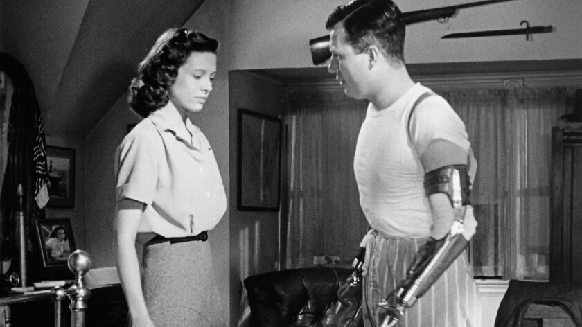 "Cathy O'Donnell and Harold Russell in ""The Best Years Of Our Lives."""