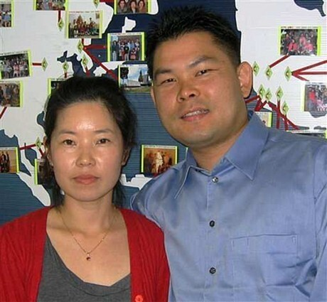 Dong Yun Yoon and his wife, Young Mi
