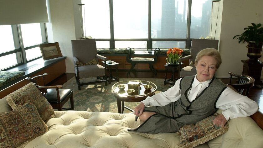 Mathilde Krim, a founder of amfAR, is seen in her apartment in New York in 2000.