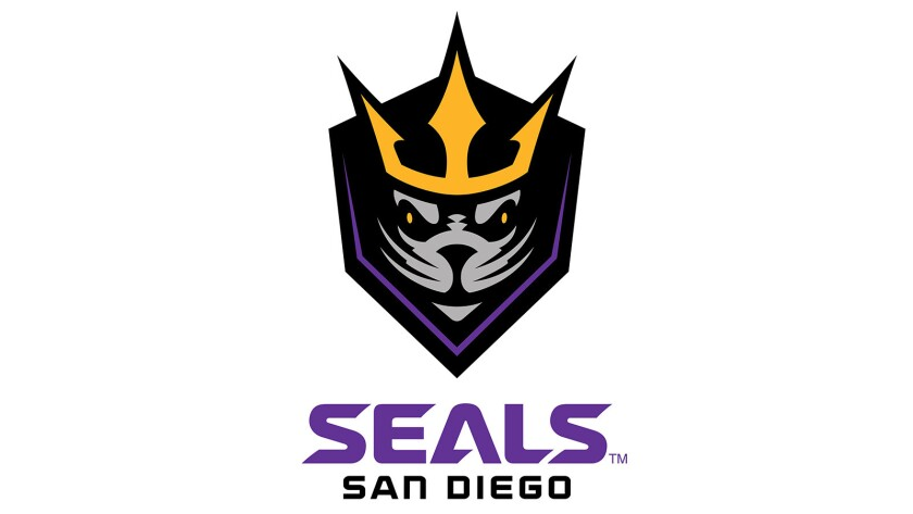 Logo for the San Diego Seals.