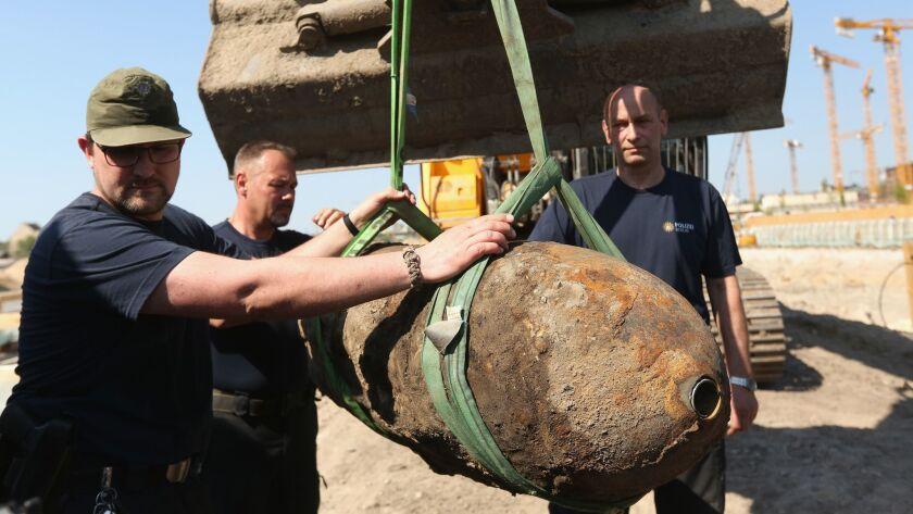 Bomb Disposal Team Defuses World War 2 Bomb In Berlin City Center
