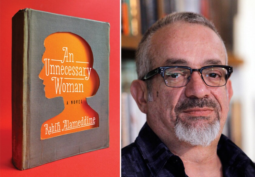 "The cover of ""An Unnecessary Woman"" is shown alongside author Rabih Alameddine."