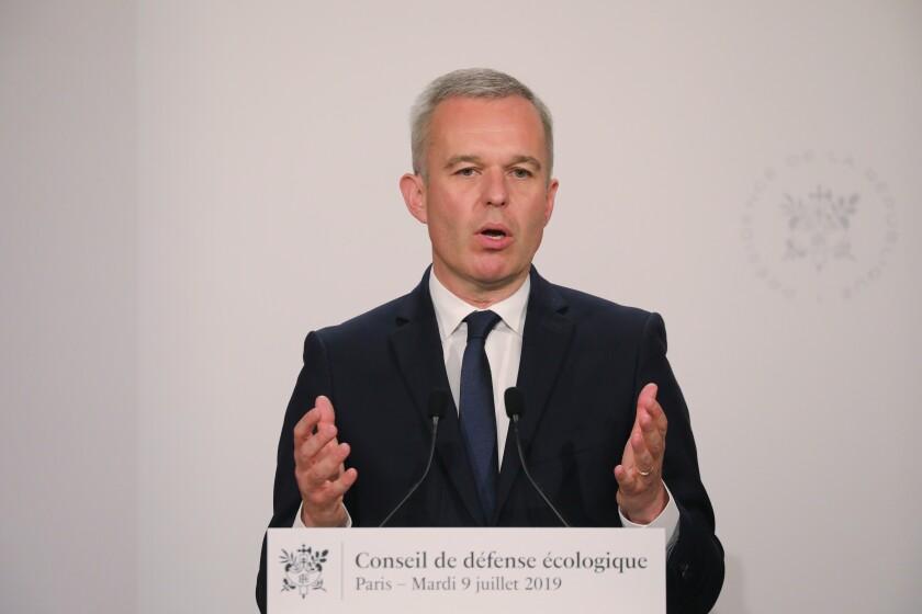 Ecology Minister Francois de Rugy