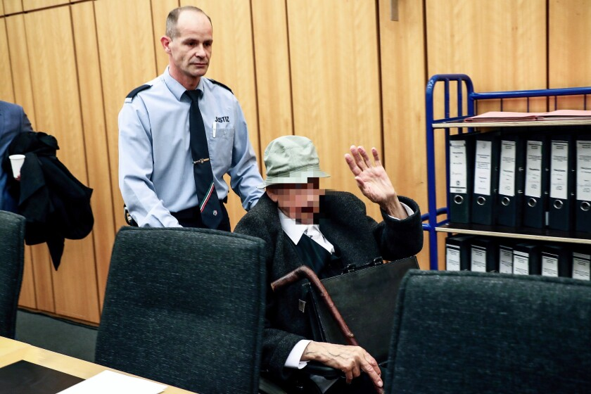 Nazi concentration camp guard Johann Rehgoben, who is 94, is being charged as an accessory to murder for serving at Stutthof concentration camp from June 1942 to September 1944.