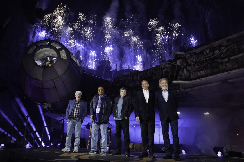 Star Wars: Galaxy's Edge Celebrated Ahead of Opening at Disneyland Park