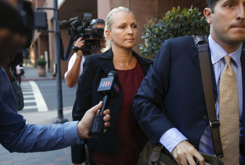 Margaret Hunter on the day of her arraignment Aug. 23, 2018.