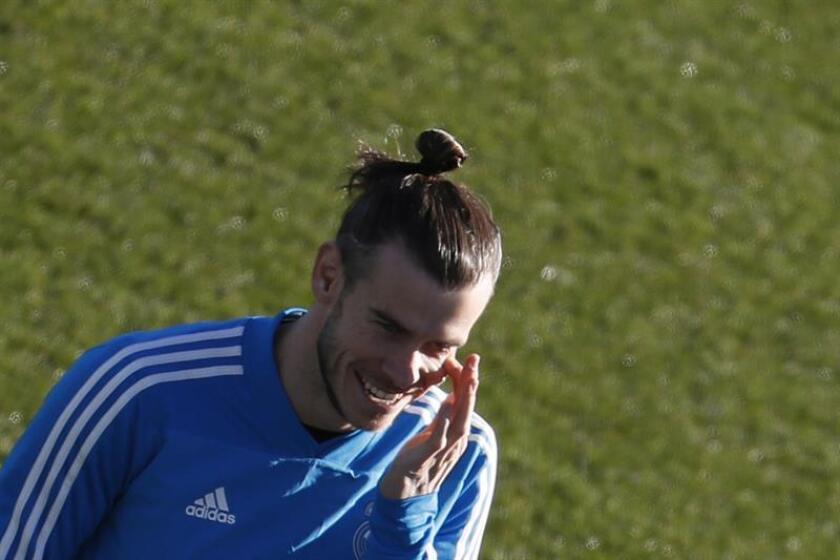 El centrocampista galés del Real Madrid Gareth Bale durante un entrenamiento. EFE/Archivo