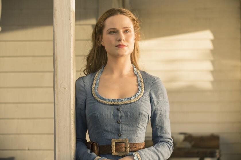 """Evan Rachel Wood as Dolores Abernathy in """"Westworld."""""""