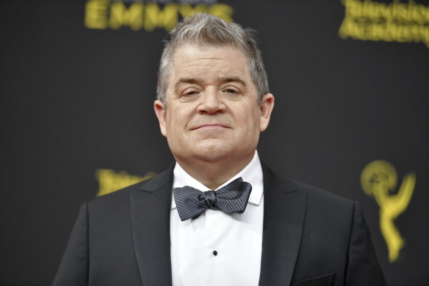A photo of Patton Oswalt at night two of the Creative Arts Emmy Awards on Sunday, Sept. 15, 2019, at the Microsoft Theater in Los Angeles.