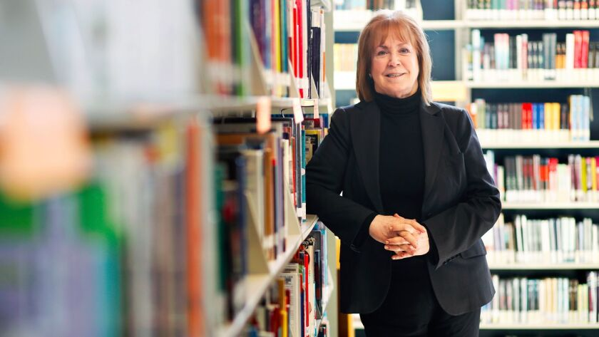 LOS ANGELES-CA-JANUARY 10, 2018: Philanthropist Melanie Lundquist is photographed at Santee Educatio