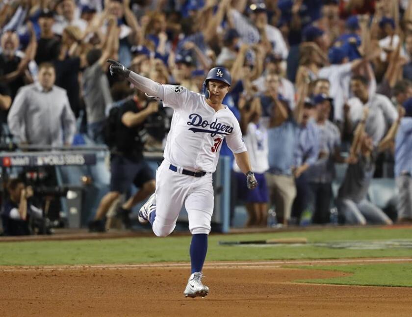 En la imagen, el jugador Joc Pederson de los Dodgers de Los Ángeles. EFE/Archivo