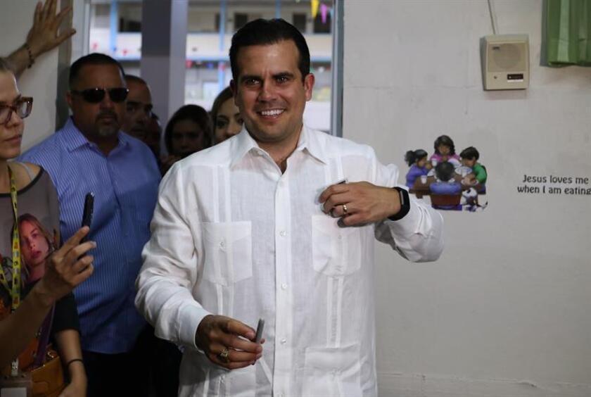 Fotografía del gobernador puertorriqueño, Ricardo Rosselló. EFE/Archivo