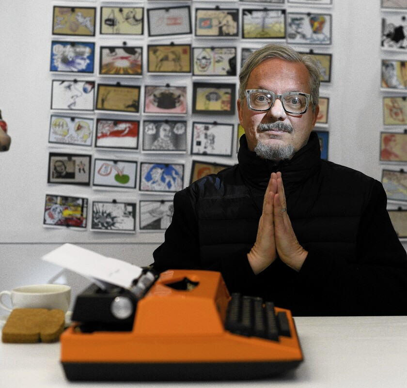"When he's not fronting Devo or scoring ""Lego"" and other films, Mark Mothersbaugh is an artist."