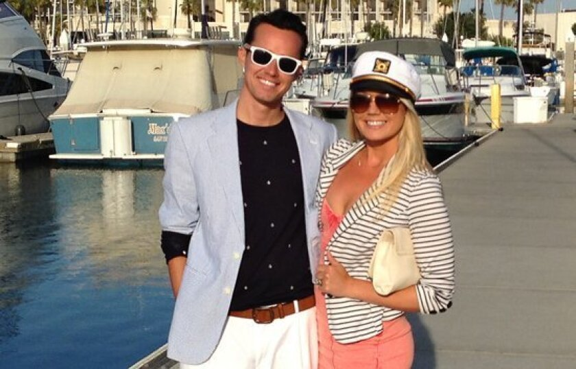 Tim King and his seventh date dressed the part to go sailing on San Diego Bay March 27.
