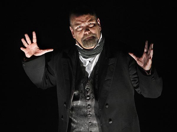 """Long Beach Opera gives David Lang's opera-play """"The Difficulty of Crossing a Field"""" its Southern California premiere at the Terrace Theater. The work deals with a plantation owner in the pre-civil war American South who walks across his field and vanishes in plain view of his family, neighbors and slaves. Robin T. Buck portrays Andrew, who sees yet doesn't see his friend's disappearance."""
