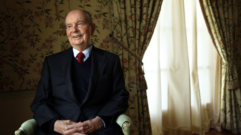 BEL AIR, CA - NOVEMBER 5, 2014 -- Billionaire A. Jerald Perenchio, 83, is making a major donation of