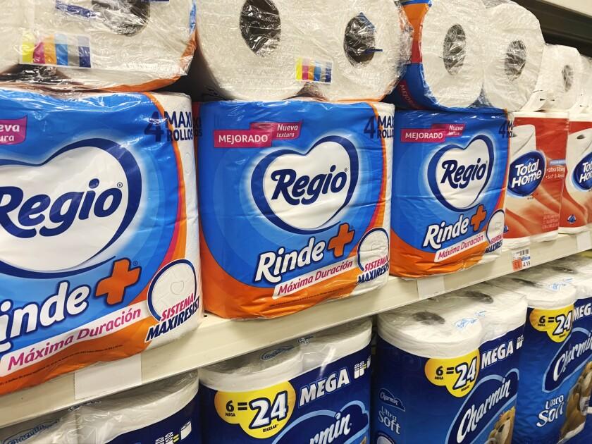 Regio, una marca mexicana de papel higiénico, a la venta en un CVS en Nueva York