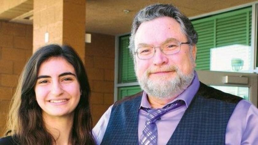 Julia Camilleri with Jonathan Maberry, recipient of the first Jonathan Maberry Inspiring Teens Award. This award is being presented to spoken word poet Viet Mai this year.