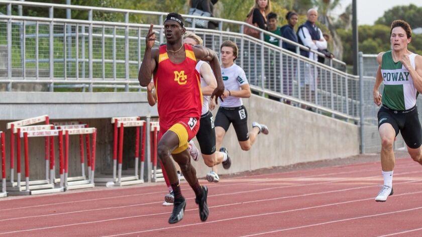 Quoi Ellis, Mt. Carmel high school boys track and field