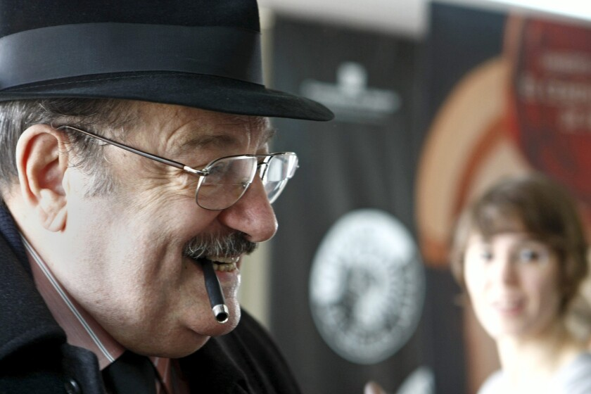 Italian novelist and scholar Umberto Eco, who died last week, is remembered by the writer Glen David Gold. Eco, above, is shown in 2010 during a book presentation in Madrid.