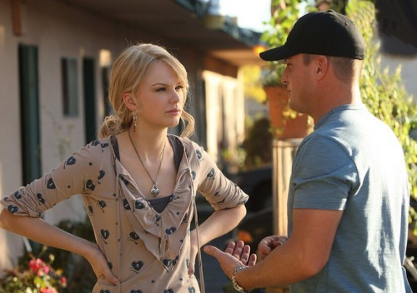Taylor Swift listens to George Eads in 'CSI'