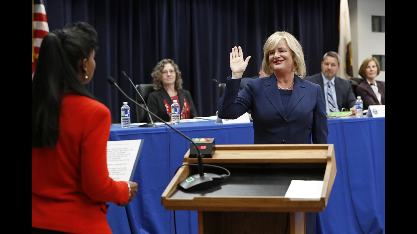 Photo Gallery: New Costa Mesa City Council members sworn in to office