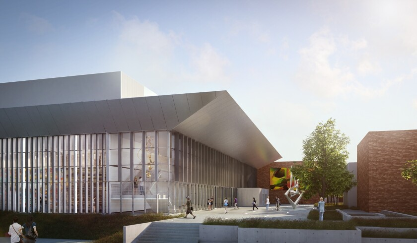 An artist's rendering of the coming Grossmont College Performing and Visual Arts Center, paid for with Proposition V funds passed by East County voters in 2012.