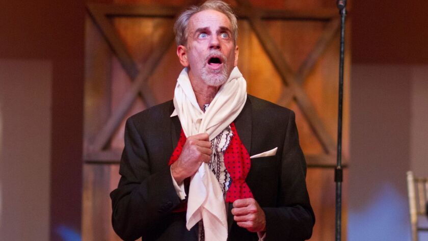 "Ron Campbell stars in San Diego Repertory Theatre's ""The Dybbuk for Hannah and Sam's Wedding."""