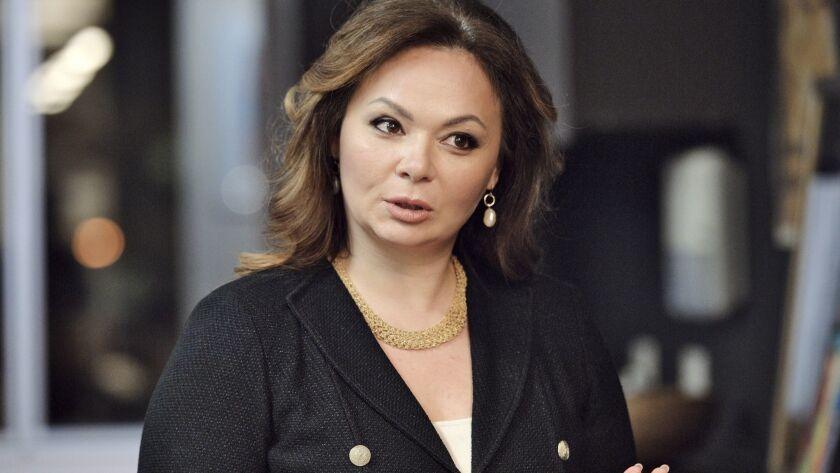 In this photo taken on Tuesday, Nov. 8, 2016, Kremlin-linked lawyer Natalia Veselnitskaya speaks to