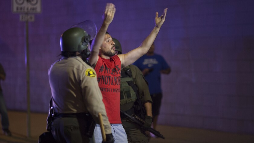 Protests continued in El Cajon after the release of videos showing the fatal shooting of Alfred Olango.