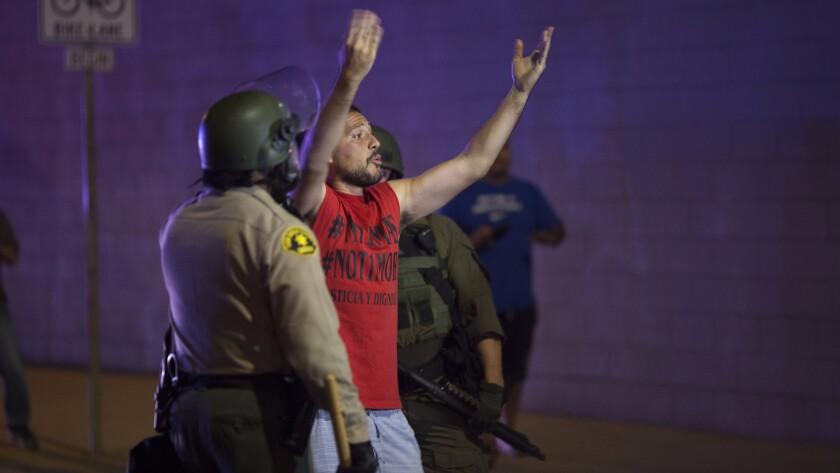 El Cajon protest