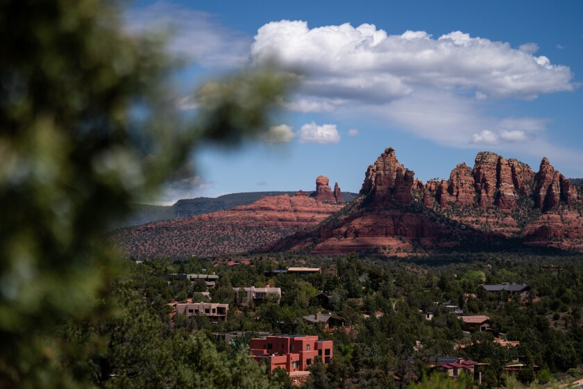 Sedona, Ariz., is known for the red sandstone formations that surround the city.