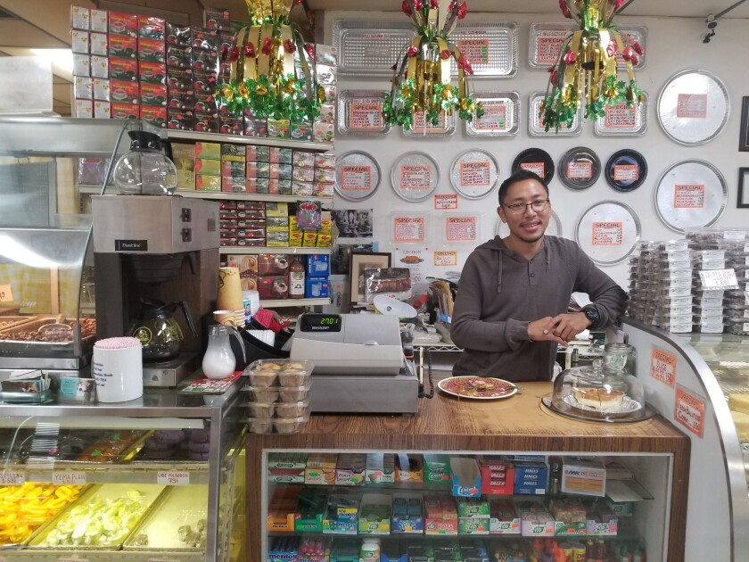 Mark DeGuzman is a friendly face behind the counter at United Bread & Pastry.