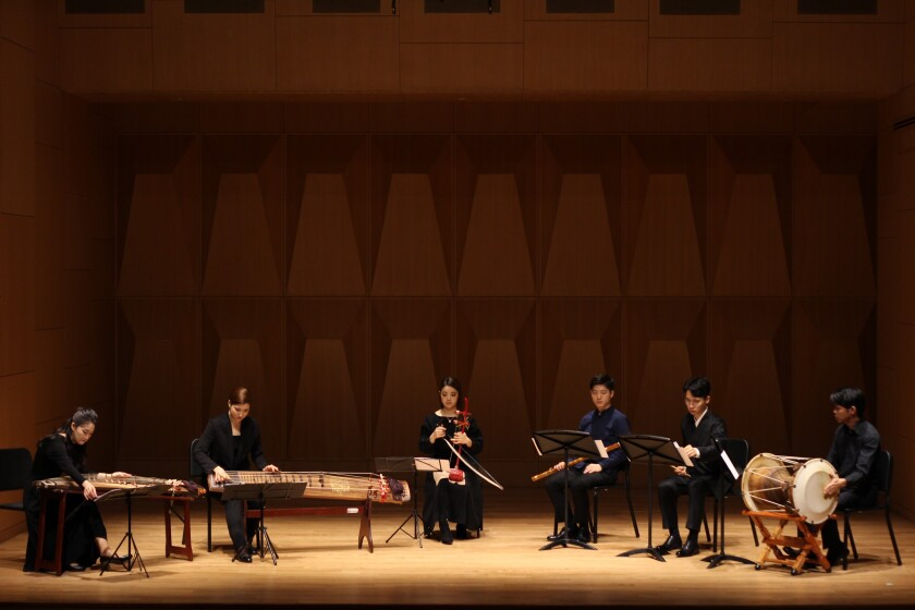 Hailing from Seoul, ensemble PHASE uses traditional Korean instruments to perform very contemporary music.