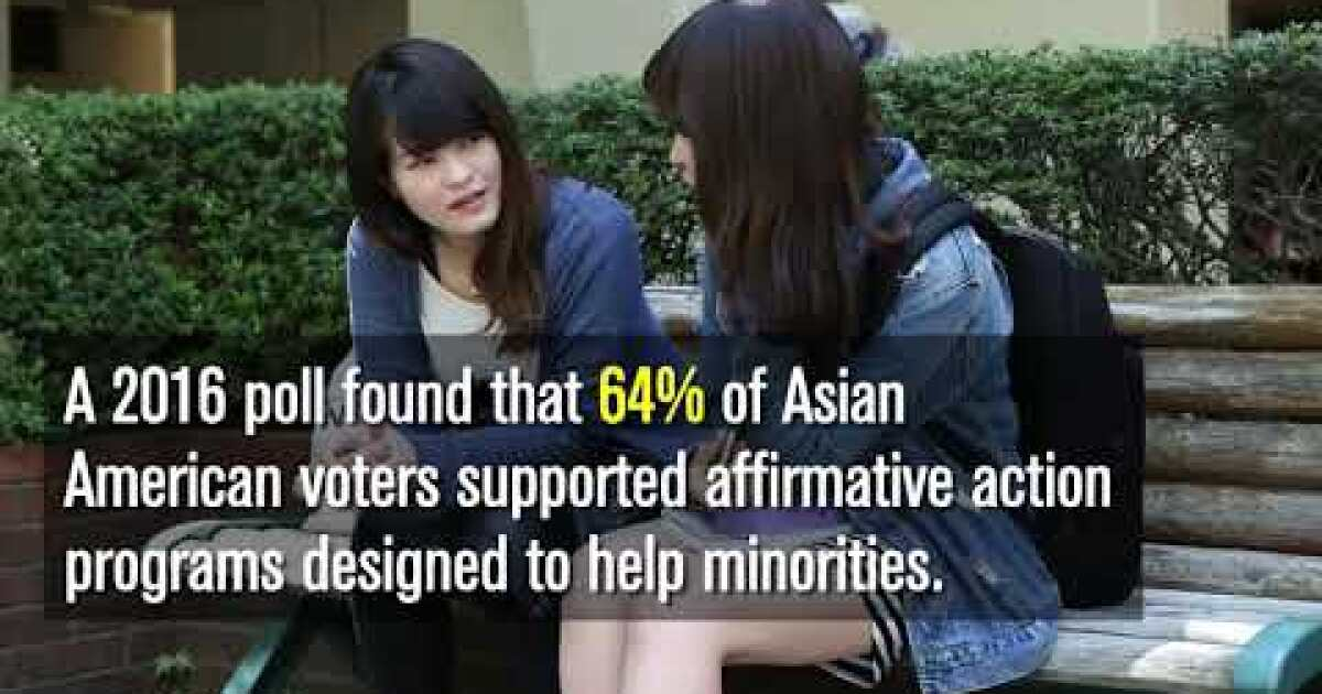 www.latimes.com: Asian Americans are divided after the Trump administration's move on affirmative action