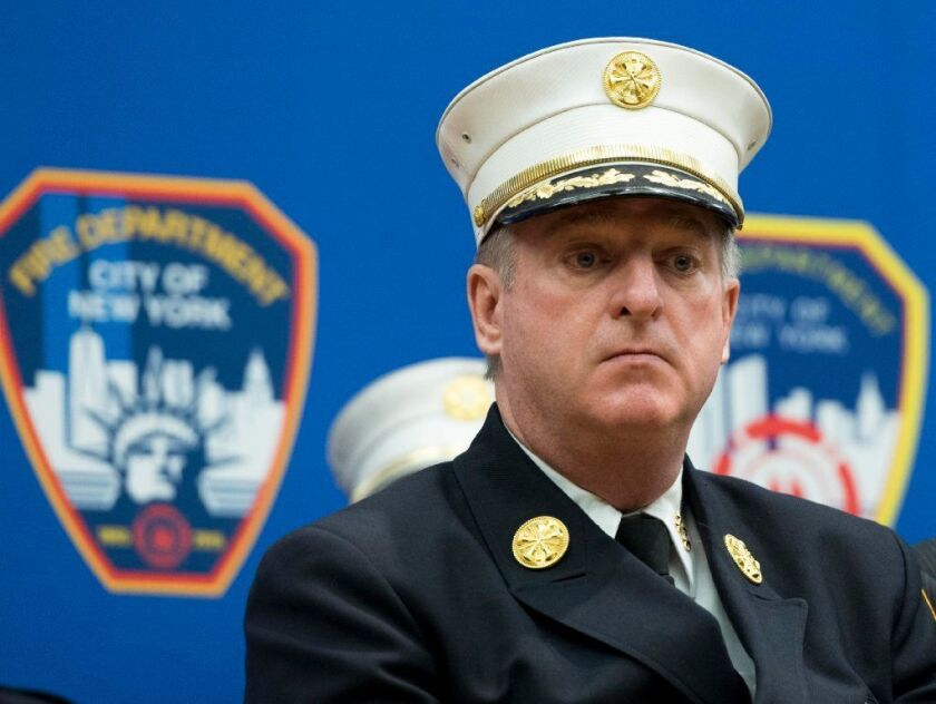 FDNY Chief of Department James E. Leonard attends the EMS Promotion Ceremony at the Randall's Island Fire Academy on Wednesday August 10, 2016.