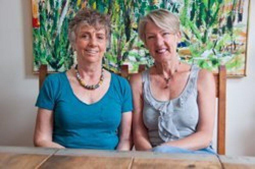 Carol Kerridge and Ingrid Hoffmeister. Photo/Claire Harlin