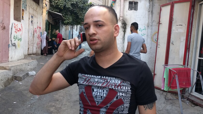 Ahmed Zaabour, a resident of Balata refugee camp in the West Bank, is wanted by authorities as a crime suspect.