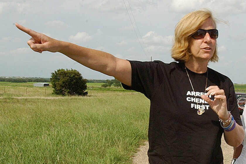"Peace and Freedom Party candidate Cindy Sheehan, pictured in 2007, says the top-two system ""seems designed to kill"" smaller political parties."
