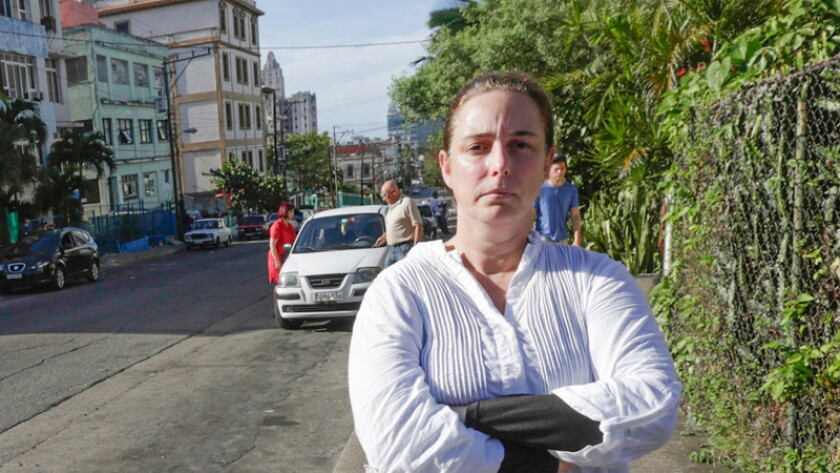 Cuban performance artist Tania Bruguera in Havana in 2014.
